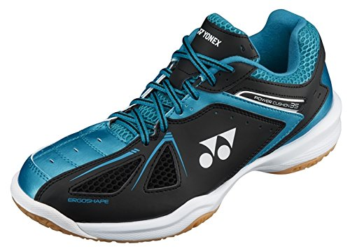 Yonex Power Cushion SHB 35EX Badminton Shoes, UK 10 (Black/Blue)
