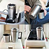 #9: Favy 12V CAR MUG WITH ELECTRIC CHARGER || Stainless Steel || Charging Electric Travel Coffee/Tea Mug Cup Heated Thermostat || FV-01