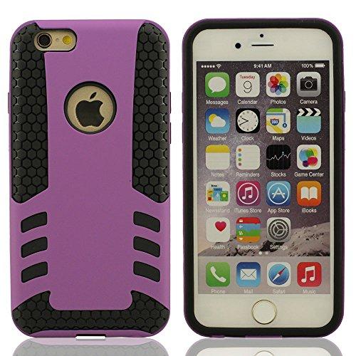 """Dur iPhone 6S Plus Case & iPhone 6 Plus Coque de Protection, Fort Armure Double couche Design iPhone 6S Plus (5.5 Pouce) Housse étui pour, (IPhone 6 Plus 4.7 """"pas compatible) Anti-dérapant Shockproof Pourpre"""