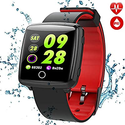 TagoBee TB09 waterproof smart watch HD colorful screen bluetooth fitness tracker suport blood pressure monitoring pedometer compatible with all Andriod smartphones and iphone… from TagoBee
