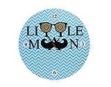Baby Oodles Little Man Kids Wall Clock