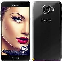 mtb more energy® Funda Style para Samsung Galaxy A5 2016 (SM-A510, 5.2'')   Negro metálico   flexible   Gel TPU Silicona Carcasa Suave Cascara