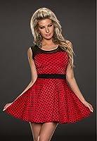 5283 Fashion4Young Damen Tailliert geschnittenes Sommerkleid Kleid Minikleid dress 2 Farben 34/36