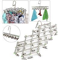Yaheetech Mini-Wäschespinne Wäschespinne inkl. 35 Klammern Camping Wäschespinne bis 5 kg
