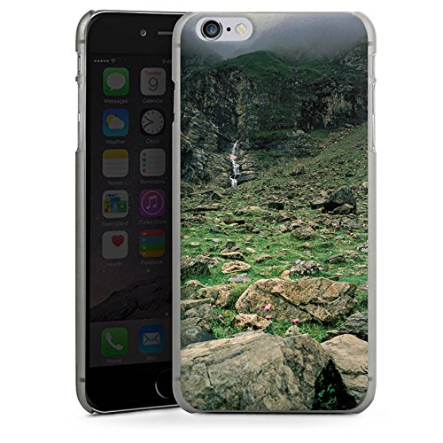 Apple iPhone X Silikon Hülle Case Schutzhülle Wasserfall Gebirge Felsen Hard Case anthrazit-klar