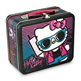 Lunch Box - Hello Kitty - Sunglasses and Pink Bow Metal Tin Case New sanlb0107 by Prannoi