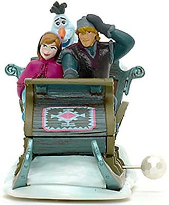 Disney Oficial Frozen Anna, Olaf y Kristoff Wind Up Toy Sleigh de Disney