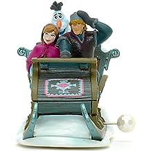 Disney Oficial Frozen Anna, Olaf y Kristoff Wind Up Toy Sleigh