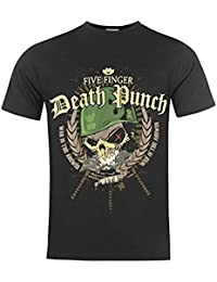 Band Tee Mens Finger Death Punch T Shirt Crew Neck Short Sleeves Cotton Tee Top Warhead L