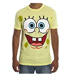 Spongebob Square Pants Face Adult Gelb T-Shirt