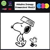 Sardegna Services Snoopy-Aufkleber für Das Auto - Snoopy-Schwarz - Stickers Notebook-Hund, Hund Aufkleber Hunde Stickers Auto-Stickers Decal Zubehör