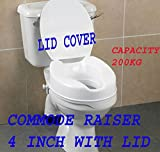 #6: COMMODE RAISER 4 INCH WITH LID COVER