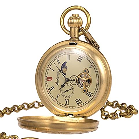 Mens Pocket Watch - Pure Copper Case ManChDa Vintage Engraved