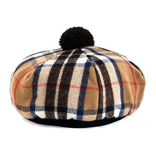 Village Hats Lochcarron of Scotland Tam O' Shanter Mütze - Thomson Camel - One Size (Tams Hat Herren)