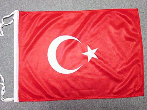 AZ FLAG Flagge TÜRKEI 45x30cm mit Kordel - TÜRKISCHE Fahne 30 x 45 cm - flaggen Top Qualität
