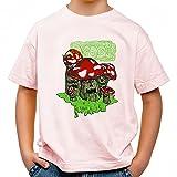 Drooling Shrooms Cooles Party Kinder T-Shirt_rosa_158/164