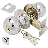 Wolfpack 3030500 - Pomo con llave y condena para entrada, cromado