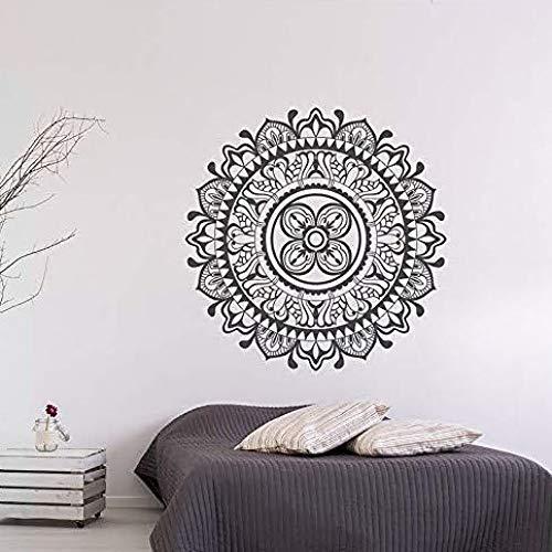 ljmljm Schwarz 57x57cm Südostasien Mandala Sonnenblume kreative Heimat Kunst Dekoration Wandaufkleber können angepasst Werden