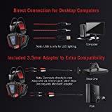 TaoTronics Gaming Headset with Noise Isolating Mic and LED Light, Wired Gaming Headphones for Computer Laptop, PS4, Xbox One, PSP, Smartphone, and More – 50mm Driver and Included 3.5mm Adapter