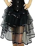 Yummy Bee - Jupe Noire Burlesque Tutu Tulle Longue Froufrous Déguisement Femme - Grande Taille 34 - 56 (Noir, 38-40)