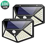 Solarleuchte für Außen,[Erweiterte Version -2 Stück] Kilponen 100 LED Solarlampen Außen mit Bewegungsmelder [1800mAh] Superhelle Solarlicht 270°Solar Beleuchtung Wasserdichte 3 Modi für Garten