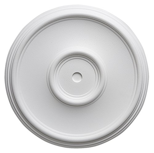 Decosa Rosette Elsa - Stuckrosette aus Styropor - individualisierbare Deckenrosette, weiß, 1 Stück à Ø 35 cm