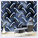 BHXINGMU Metall 3D Textur Abstract Hintergrundbilder Hintergrund Wandbilder 3D Wall Paper Decorative Wallpaper Für Internet Cafe Walls 270Cm(H)×370Cm(W)