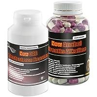 Preisvergleich für New Anabol Creatin Alkaline 120 Kaps.+New Daa Testosteron Booster 90g!Kreatin Testosteron Muskelaufbau Eiweiß...