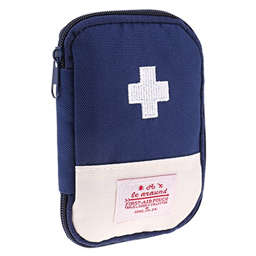 Homyl Erste Hilfe Tasche, Medikamententasche Hausapotheke Reise Verbandstaschen - Blau