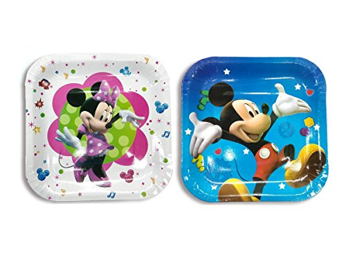 Ziggle Mickey plates pure and safe Party plates Mickey Minnie printed(Pack of 20)