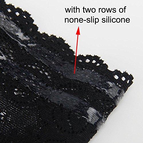 Qissy® Femmes élastiques Anti-réchauds Cuisse Empêchent La Cuisse Chaussette silicone contre frottement/ irritation A-Noir