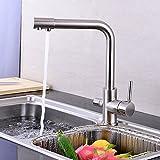 ETERNAL QUALITY Badezimmer Waschbecken Wasserhahn Messing Hahn Waschraum Mischer Mischbatterie Tippen Sie auf Küche Wasserhahn 3 mit reinem Wasser Armaturen modernes, minimalistisc