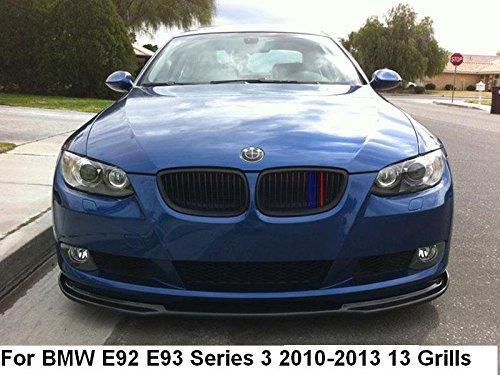 Coupe B M W E92 E93 Série 3 2010-2013 13 Grill Clip en Insurts M Power Bonnet Rein Grille Rayures Décor Housse M Sport Tech 3 couleurs