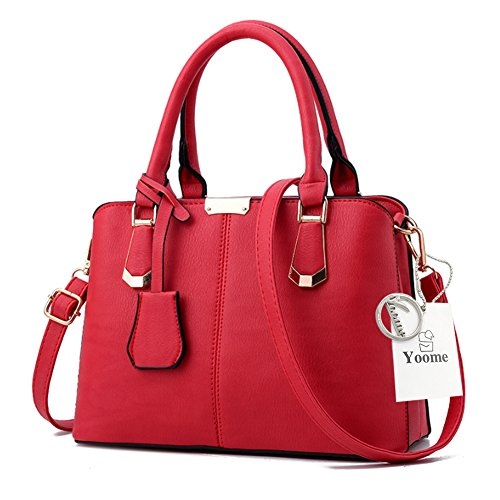 Sacchetti di Yoome per le donne Top Handle Satchel Borse eleganti per borse da regalo Fashion Strap Bag - L.Grey Rosso