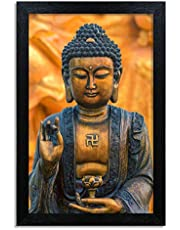 Home Attire peacefull buddha matte finish painting- Size-12x18 inches