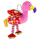 Lamaze Flapping Fiona - Clip On Pram and Pushchair Newborn Baby Toy Flamingo - Suitable from Birth