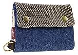 Liying Neu Geldbeutel Geldbörse Portemonnaie mit Geldklammer,Canvas Herren-Portmonee,Herrenbörse,Kreditkartenetui,Brieftasche,Geldtasche mit RFID-Blocker