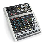 Vonyx VMM-K402 4-Kanal Music Mixer Bluetooth USB-Audio-Interface