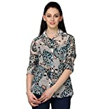 WOMEN OFF WHITE FLORAL SHIRT (X-Large)