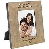 En nuestro primer día de San Valentín madera marco de fotos 6x 4