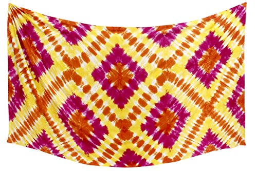 La Leela Frauen Strand Glatt Rayon Bademoden Badeanzug Bikini skrirt Sarong Wickeln Rosa (Lange Rayon Tie Dye Wrap)