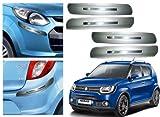 #1: Auto Pearl Premium Quality Car Silver Chrome Bumper Safety Guard Protector - Maruti Suzuki Ignis- Set of 4Pcs