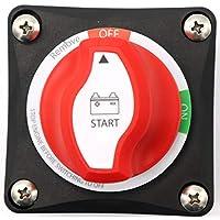 Greenwayyd Interruptores de batería con desconexión de Campo alternador (AFD) 48 V DC, BBSS3656, 275 Amps On-Off Selector 2 Position