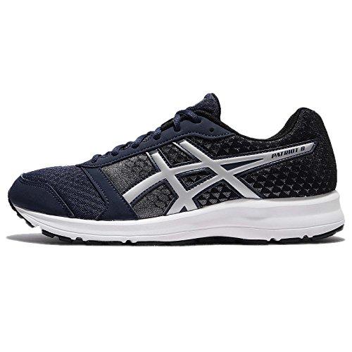 ASICS Men's Patriot 8 Insignia Blue/Silver/Black Running Shoes - 10 UK/India (45 EU)(11 US)