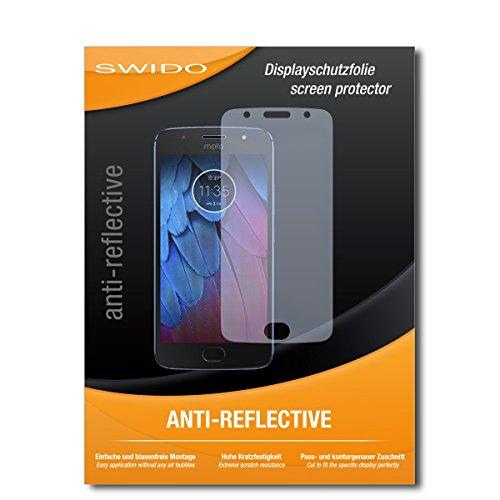 SWIDO Schutzfolie für Motorola Moto G5s [2 Stück] Anti-Reflex MATT Entspiegelnd, Hoher Härtegrad, Schutz vor Kratzer/Displayschutz, Displayschutzfolie, Panzerglas-Folie