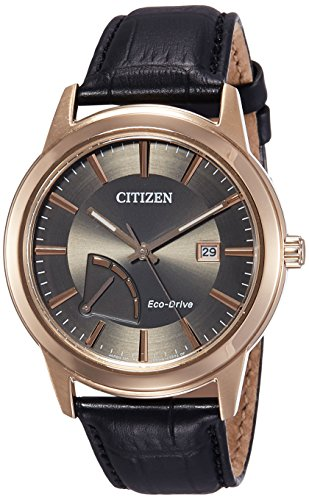 Citizen Herren Analog Quarz Uhr mit Leder Armband AW7013-05H