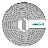 LACCICO Finest Waxed Laces - Durchmesser 2,5 mm, robuste gewachste premium Schnürsenkel; Farbe:Achatgrau, Länge:150 cm