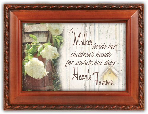 A Mother Holds Her Childrens Hands Music Box by Cottage Garden