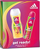 ADIDAS CHRISTMAS GIFT SET GET READY FOR HER DEODORANT SPRAY 150ml & SHOWER GEL 250ml