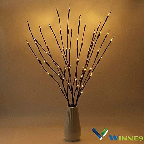 LED Lampe Zweig, Winnes 20 LEDs Lichter Zweige Warmweiß Dekozweige LED Lampe Batteriebetrieben Dekorative Lichter Für Home Room Decor (2 Stück) -